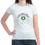 Irish Wine Girl Jr. Ringer T-Shirt