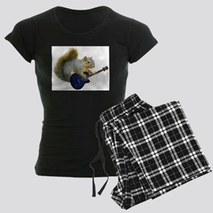 Squirrel with Blue Guitar Pajamas