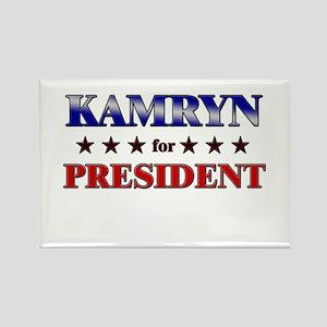KAMRYN for president Rectangle Magnet