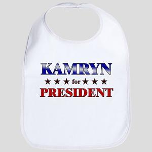 KAMRYN for president Bib