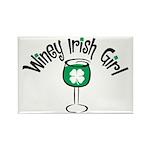 Winey Irish Girl Rectangle Magnet (100 pack)