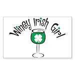 Winey Irish Girl Rectangle Sticker