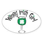 Winey Irish Girl Oval Sticker