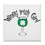 Winey Irish Girl Tile Coaster