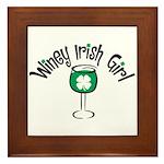 Winey Irish Girl Framed Tile