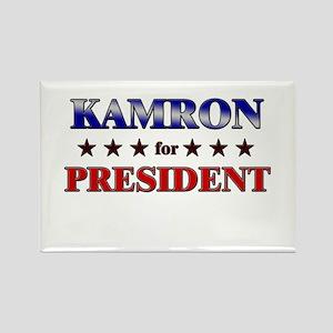 KAMRON for president Rectangle Magnet