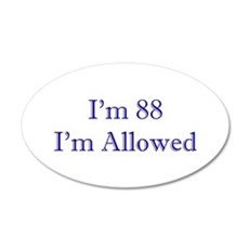 88 I'm Allowed 1C Dk Blue Wall Decal