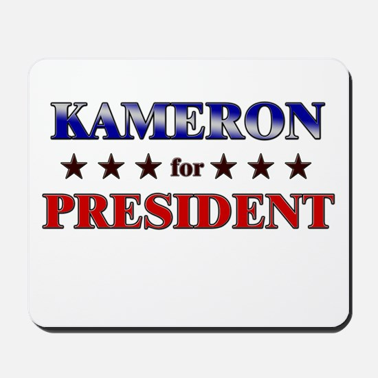 KAMERON for president Mousepad