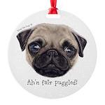 Personalised Wee Scottish Shug The Pug Ornament