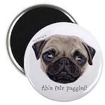 Personalised Wee Scottish Shug The Pug Magnets