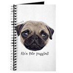 Personalised Wee Scottish Shug The Pug Journal