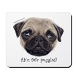 Personalised Wee Scottish Shug The Pug Mousepad