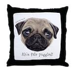 Personalised Wee Scottish Shug The Pug Throw Pillo