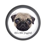 Personalised Wee Scottish Shug The Pug Wall Clock
