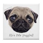 Personalised Wee Scottish Shug The Pug Tile Coaste