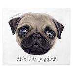 Personalised Wee Scottish Shug The Pug King Duvet