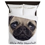 Personalised Wee Scottish Shug The Pug Queen Duvet