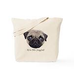 Personalised Wee Scottish Shug The Pug Tote Bag