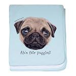 Personalised Wee Scottish Shug The Pug baby blanke