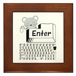 Enter Framed Tile