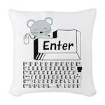 Enter Woven Throw Pillow