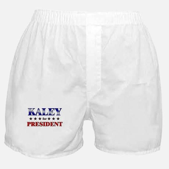 KALEY for president Boxer Shorts