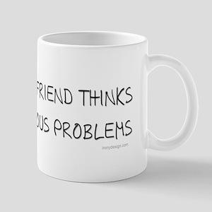 My imaginary Friend quote Mugs