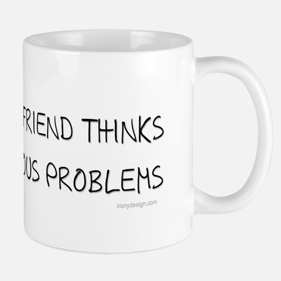 My imaginary Friend quote Mugs