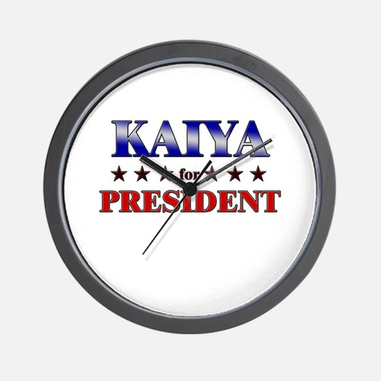 KAIYA for president Wall Clock