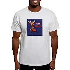 Christmas Snowmobiling T-Shirt