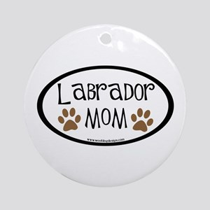 Labrador Mom Oval Ornament (Round)
