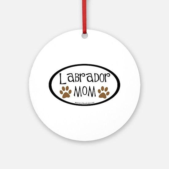 Labrador Mom Oval Ornament (Round)