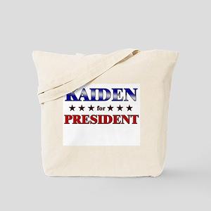 KAIDEN for president Tote Bag