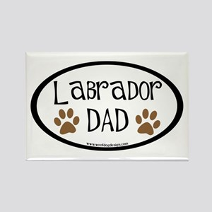 Labrador Dad Oval Rectangle Magnet