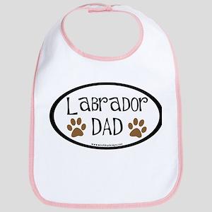 Labrador Dad Oval Bib
