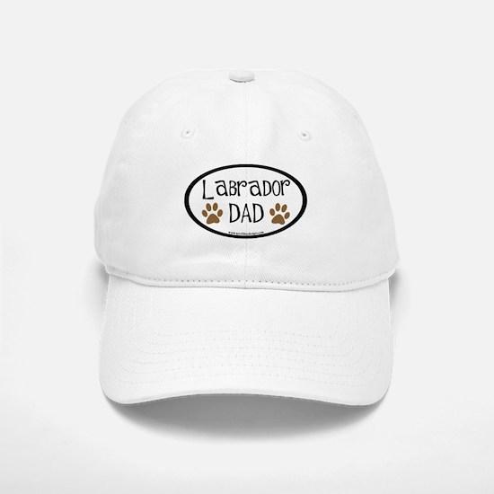 Labrador Dad Oval Baseball Baseball Cap