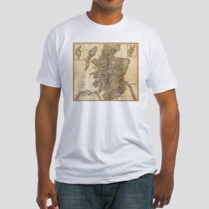 Vintage Map of Scotland (1801) T-Shirt