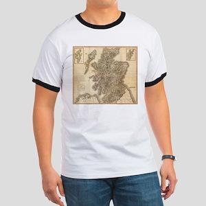Vintage Map of Scotland (1801) T-Shirt