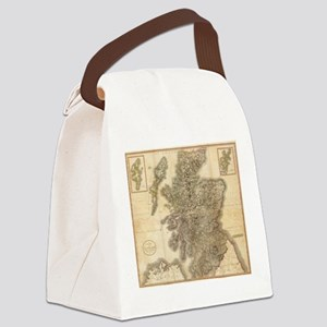 Vintage Map of Scotland (1801) Canvas Lunch Bag