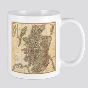 Vintage Map of Scotland (1801) Mugs