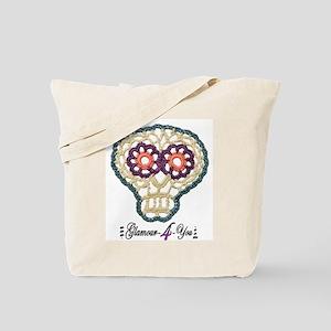Sugar Skull Applique Tote Bag