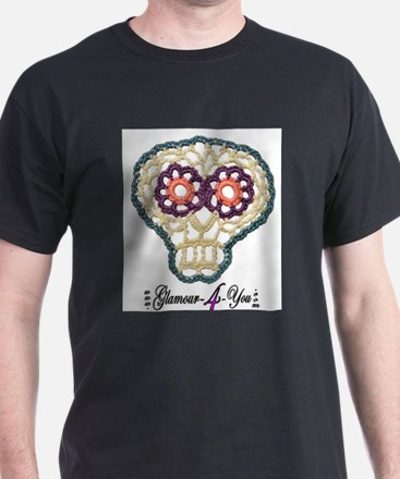 Sugar Skull Applique T-Shirt