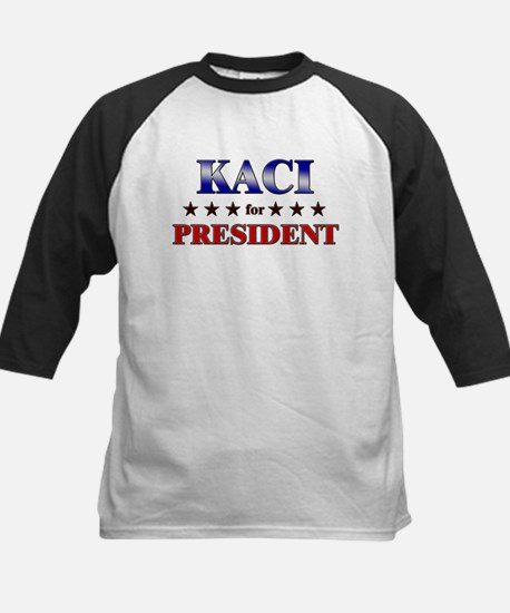 KACI for president Kids Baseball Jersey