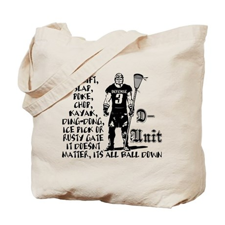 Lacrosse DUnit Checks Tote Bag