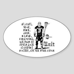 Lacrosse DUnit Checks Oval Sticker