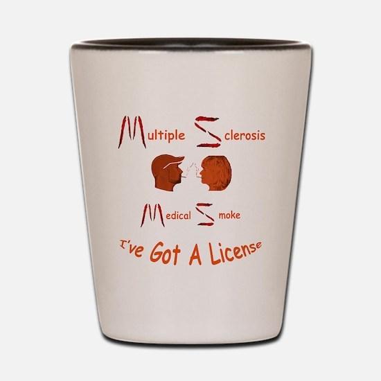Multiple Sclerosis Medical License Shot Glass