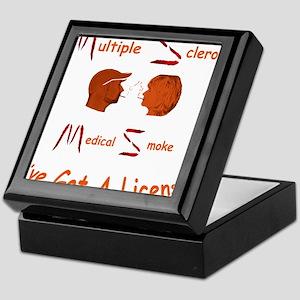 Multiple Sclerosis Medical License Keepsake Box