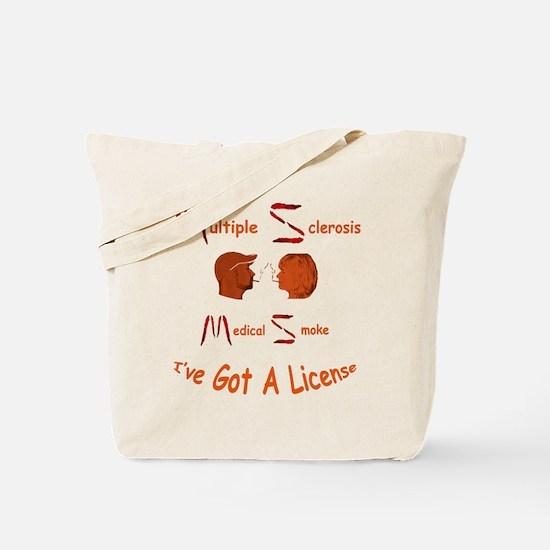 Multiple Sclerosis Medical License Tote Bag