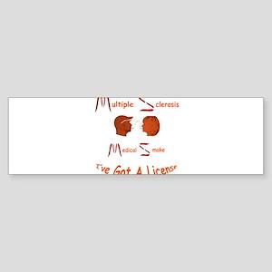 Multiple Sclerosis Medical License Bumper Sticker