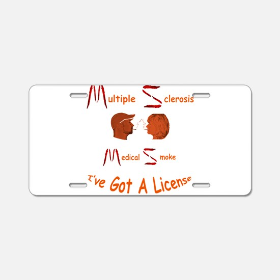 Multiple Sclerosis Medical Aluminum License Plate